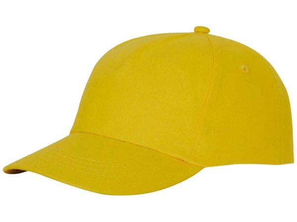 Бейсболка полувелюр желтый