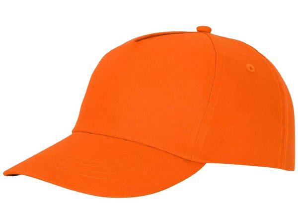 Бейсболка полувелюр оранжевый