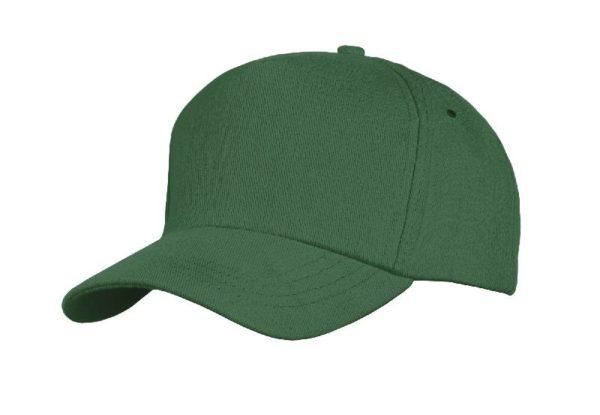 Бейсболка велюр, цвет зеленый