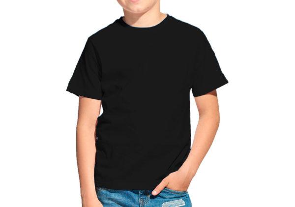 Футболка детская черная