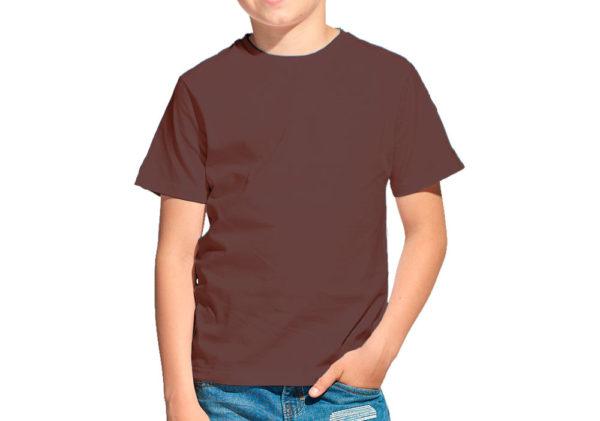 Футболка детская шоколад (светло-коричневая)