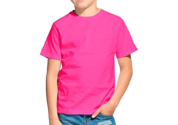 Футболка детская фуксия (розовая)