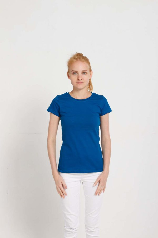 Футболка женская Премиум-180 Цвет синий