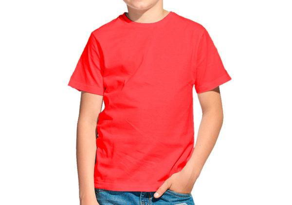 Футболка детская красная
