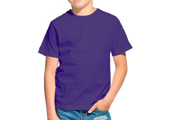 Футболка детская слива (темно-фиолетовый)