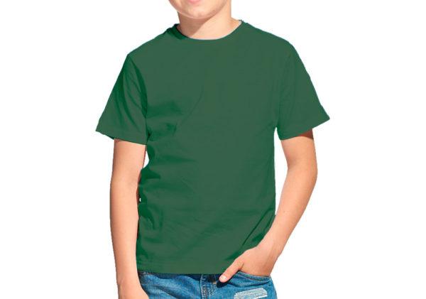 Футболка детская темно-зеленая