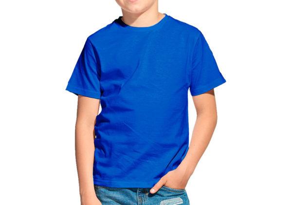 Футболка детская синяя (василек)