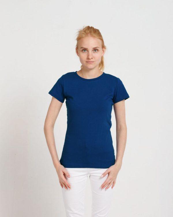 Футболка женская classic синий (василек)