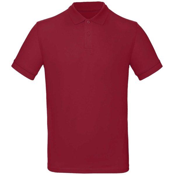 Рубашка поло мужская цвет бордовый