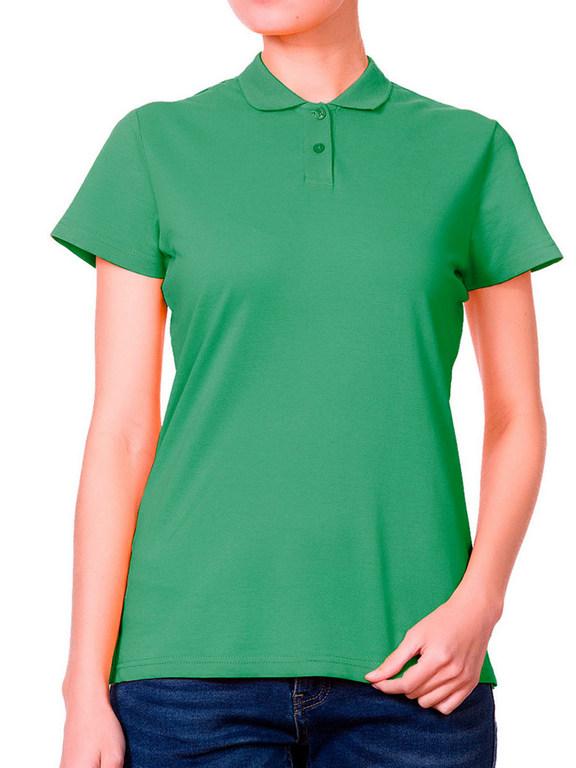 Поло женская зеленая