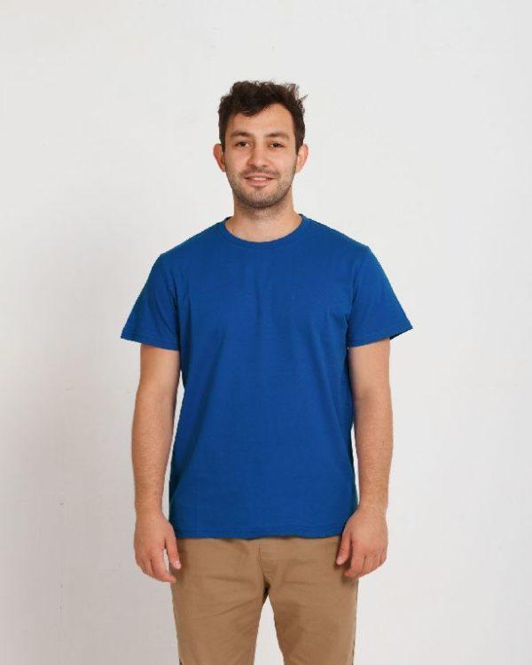 Футболка мужская синий (василек)