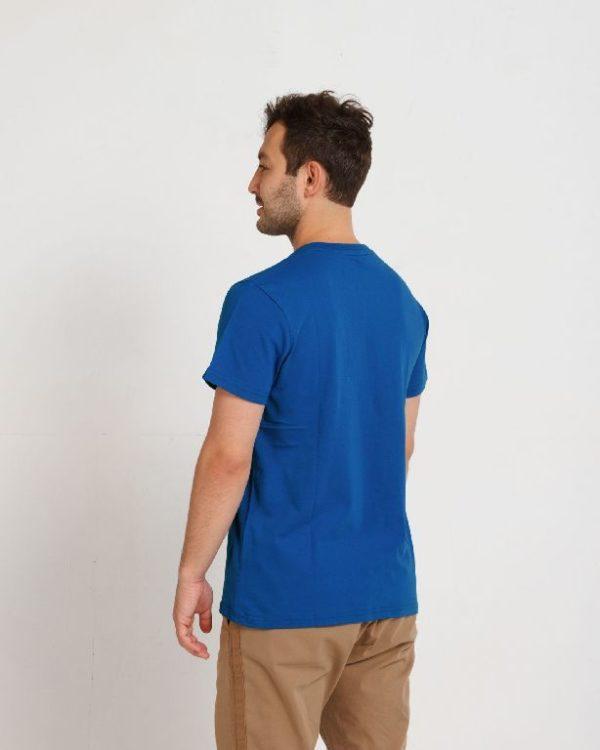 Футболка мужская синяя (василек)
