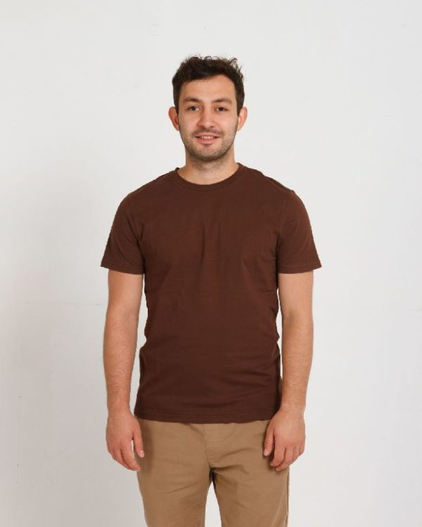 Футболка мужская шоколад (темно-коричневая)