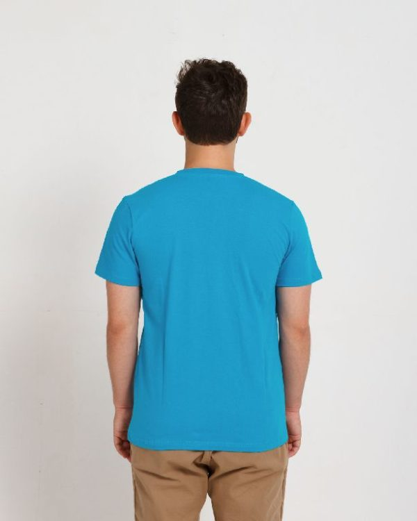 Футболка мужская голубая