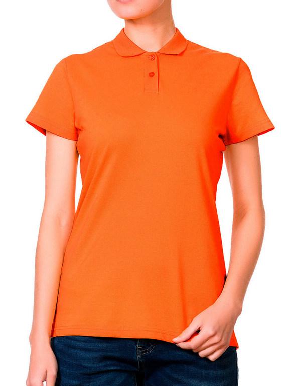 Поло женская оранжевая