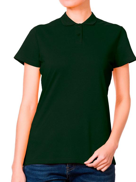 Поло женская темно-зеленая