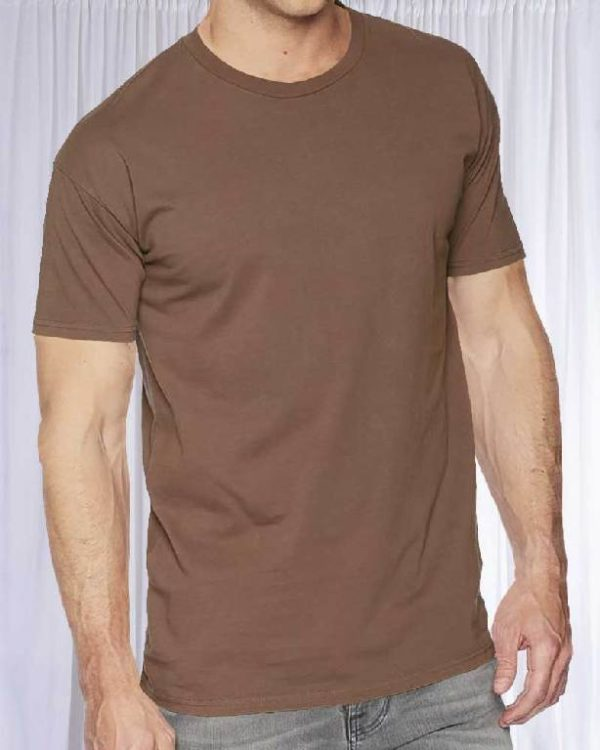 Футболка Классик коричневая цвет Терракот