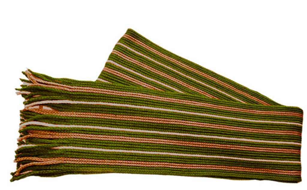 Шарф вязаный веревочного плетения Премиум плюс