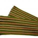 Шарф вязаный горизонтального вязания