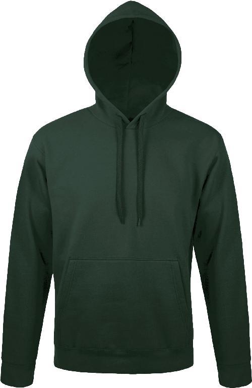 Худи-кенгуру Премиум темно-зеленая