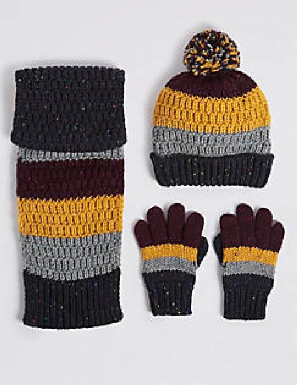 Вязаные комплекты: шарф, шапка и перчатки