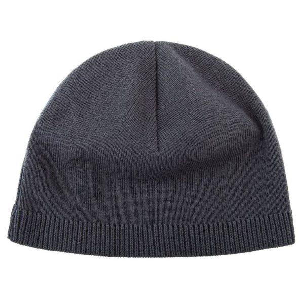 Черная шапка вязаная под нанесение