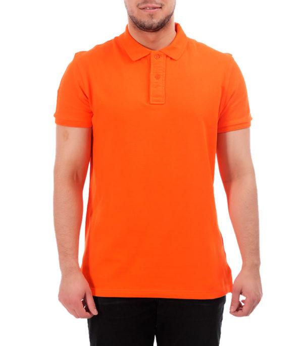 Рубашка поло мужская оранжевый