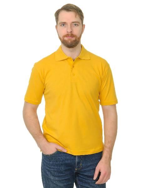 Поло премиум цвет темно-желтый