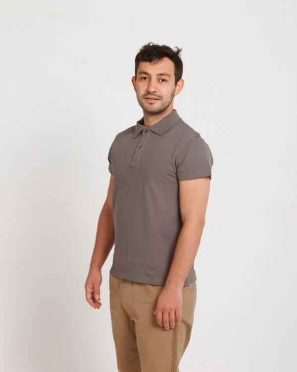 Рубашка поло мужская Серый