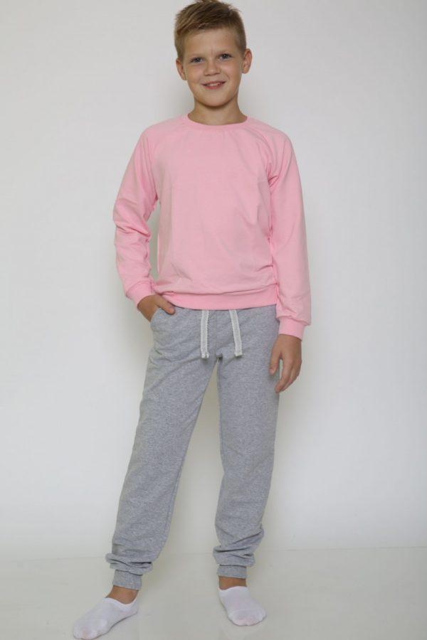 Костюм спортивный детский брюки-свитшот розовый-меланж