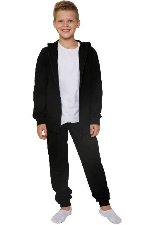 Костюм детский брюки-толстовка на молнии черный