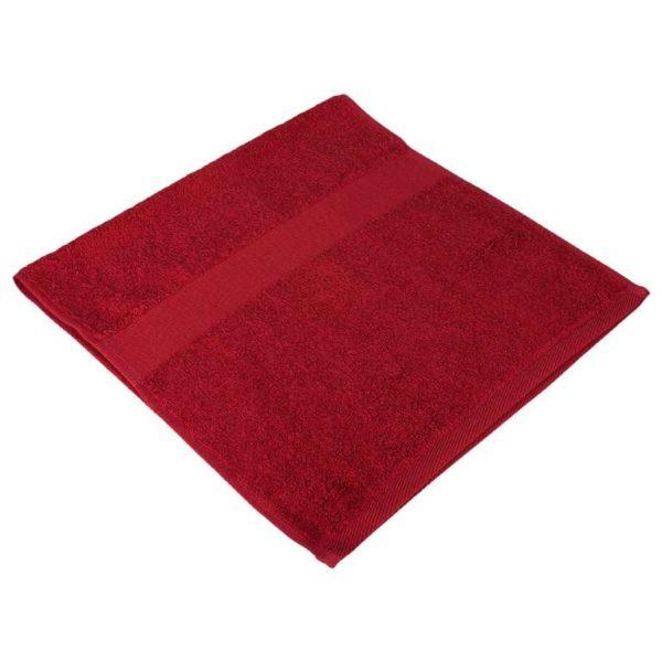 Полотенце махровое бордовое