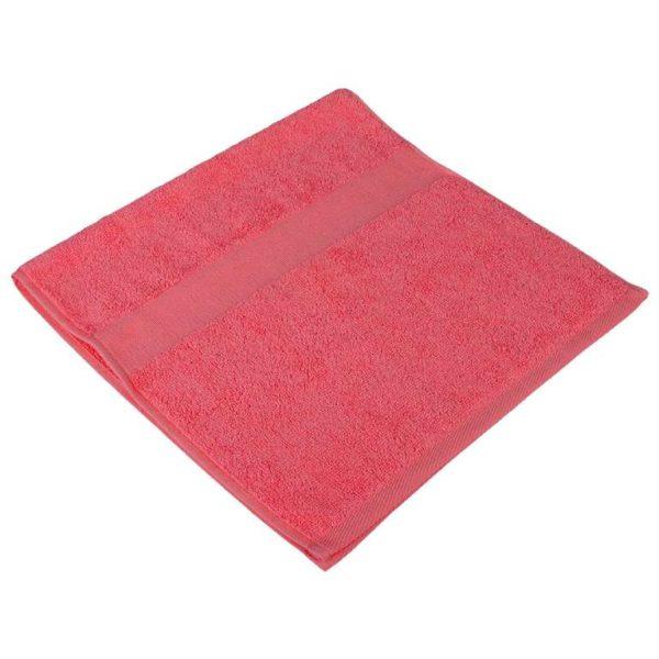 Полотенце махровое розовое