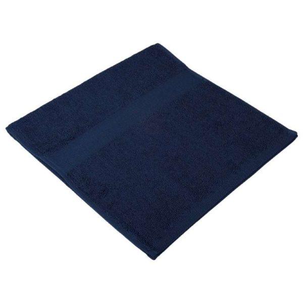Полотенце махровое темно-синее