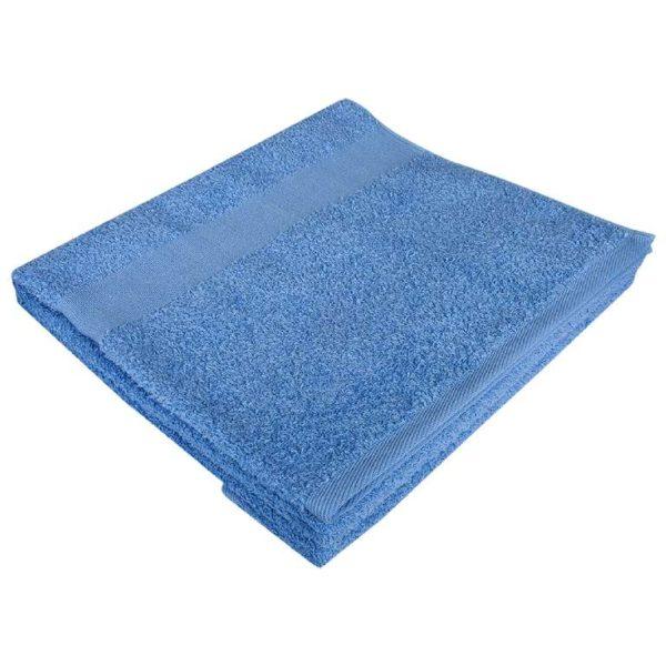 Полотенце махровое банное 70*140 голубое