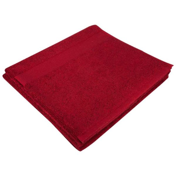 Полотенце махровое банное 70*140 бордовое