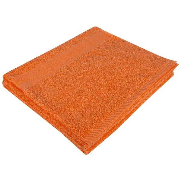 Полотенце махровое банное 70*140 оранжевое