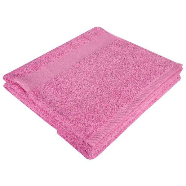 Полотенце махровое банное 70*140 розовое
