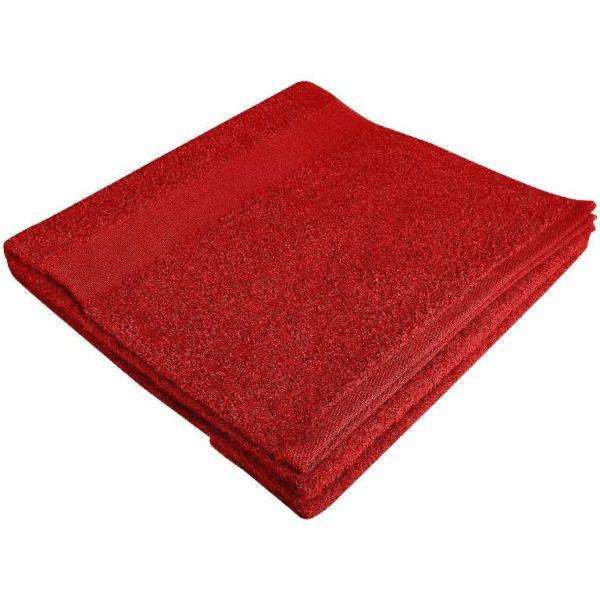 Полотенце махровое банное 70*140 красное