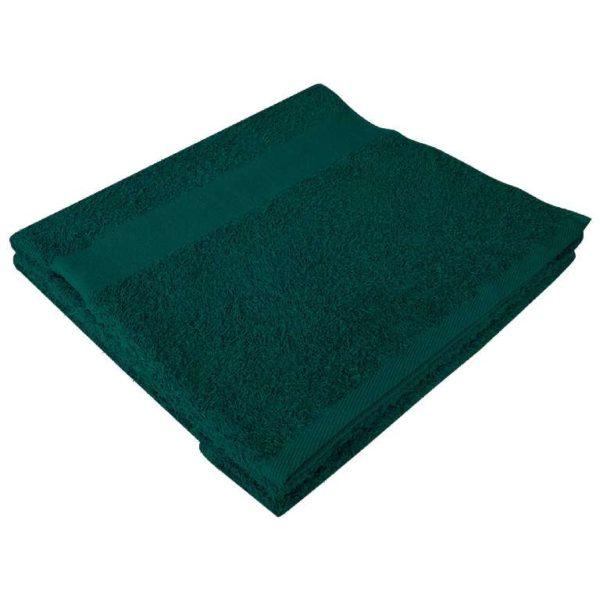 Полотенце махровое банное 70*140 темно-зеленое