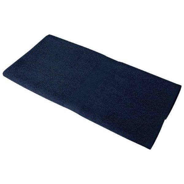 Полотенце махровое 50*90 темно-синее