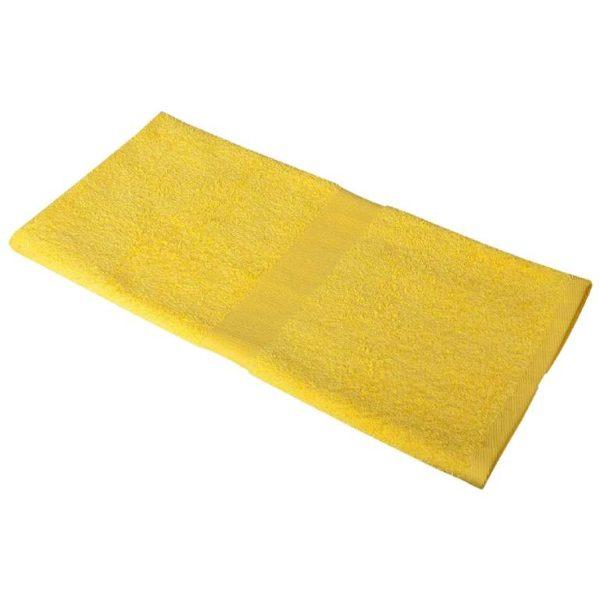 Полотенце махровое 50*90 желтое