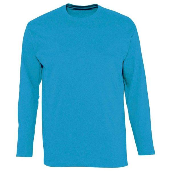 Футболка с длинным рукавом (лонгслив) голубой