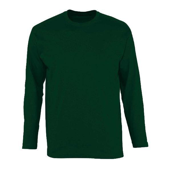 Футболка с длинным рукавом (лонгслив) темно-зеленый