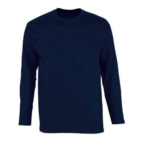 Футболка с длинным рукавом (лонгслив) темно-синий