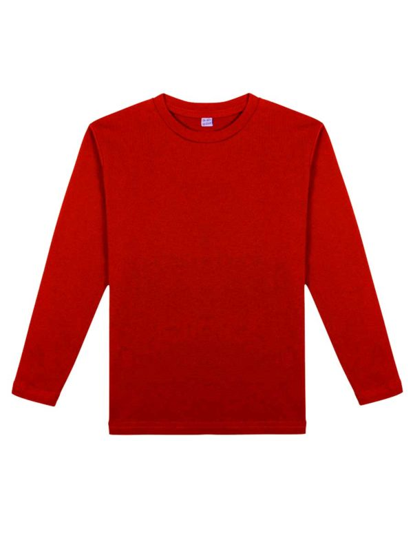 Детская футболка с длинным рукавом красная