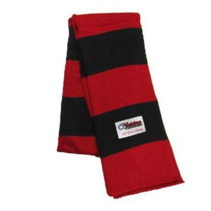 Жаккардовая этикетка на шарфе