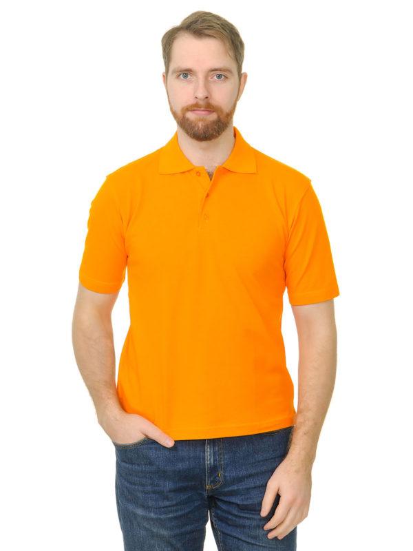 Поло премиум цвет оранжевый