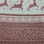 Плед вязаный жаккардового плетения