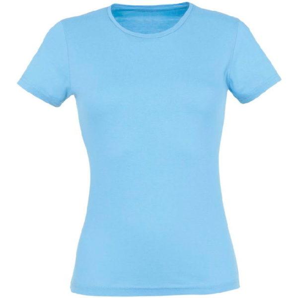 Футболка женская премиум Пенье, цвет голубой